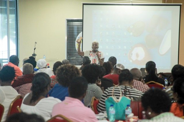 National carnival commission of trinidad and tobago ncc presenter claudette sinnette leads off her presentation at the adjudication workshop malvernweather Gallery
