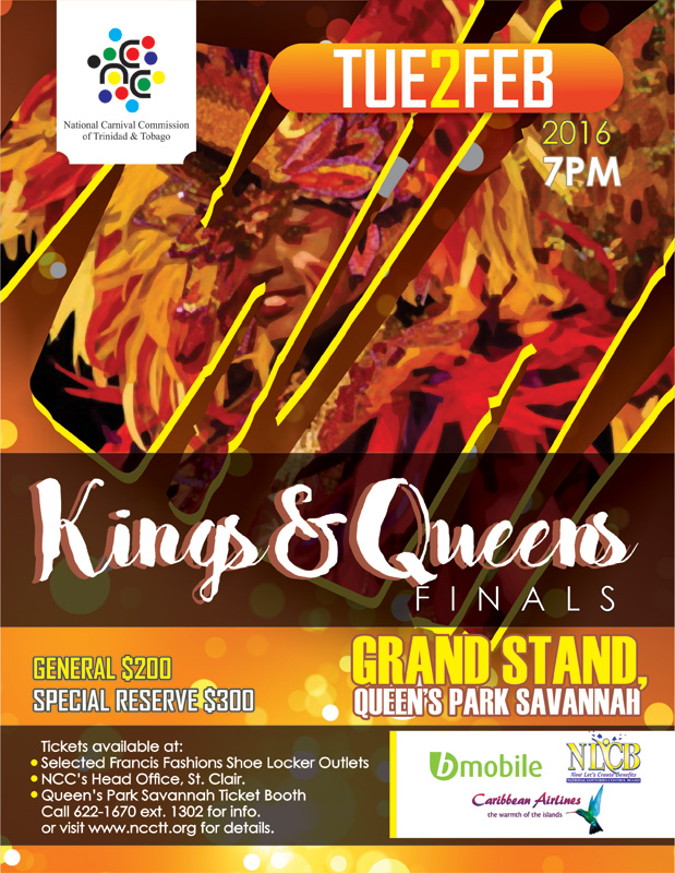 National carnival commission of trinidad and tobago ncc kings queens finals 2016 malvernweather Gallery