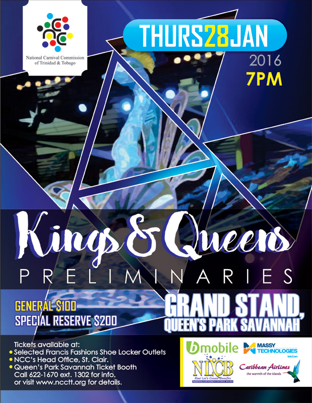 National carnival commission of trinidad and tobago ncc kings queens preliminaries 2016 malvernweather Gallery