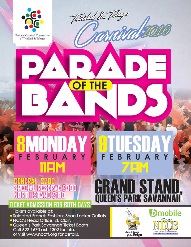National carnival commission of trinidad and tobago ncc parade of the bands 2016 malvernweather Gallery