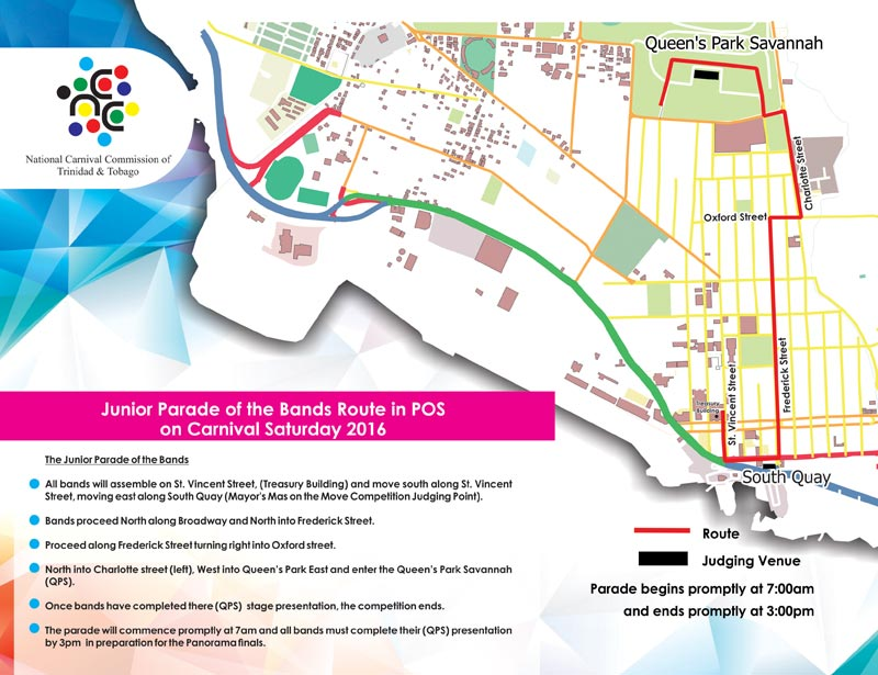 National carnival commission of trinidad and tobago ncc carnival routes 2016 malvernweather Choice Image